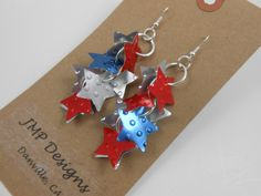 Recycled Aluminum Can Earrings