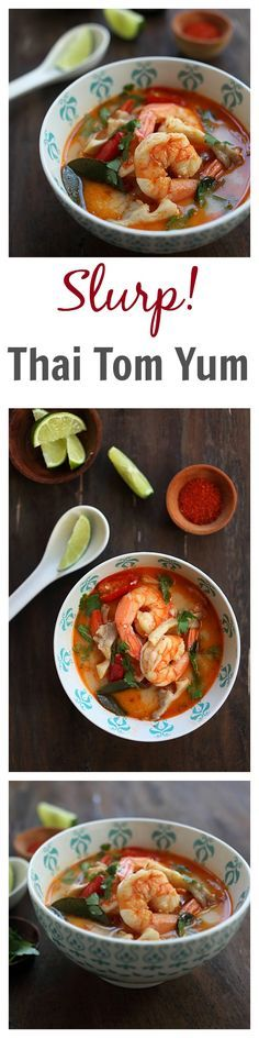 BEST, easy, and the most authentic Thai Tom Yum Soup recipe that tastes straight from Bangkok. Quick and no-hassle and better than your regular Thai restaurants   http://rasamalaysia.com