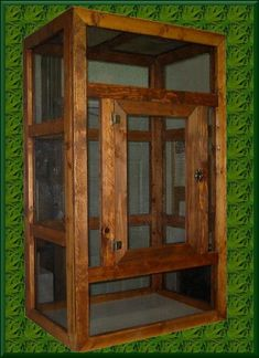 Turning an old Curio Cabinet into a custom reptile enclosure to look more appealing to the home and not just some rectangular cage.…