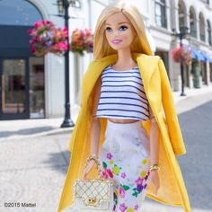 Pencil skirts and crop tops, the perfect pair! #barbie #barbiestyle