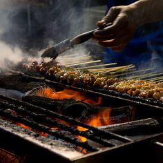 Grilled Chicken and Beef Satay @ Lau Pat Sat.     1 Boon Tat Street Singapore  6736 6622
