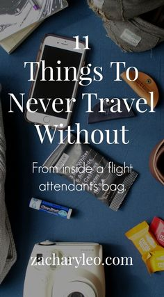 The carry on list to survive any vacation from a flight attendant himself - http://zacharyleo.com