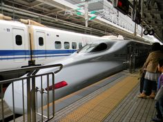 Shinkansen train. The long nose helps reduce sound entering and leaving the many tunnels.