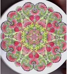 #mandalacoloringbook, 100 Nieuwe creaties mandala,  Colored by Blahona