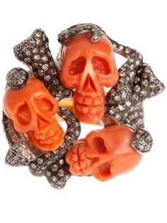 skull cluster ring