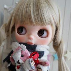 ***Custom Blythe***first snow***  Buy her here:   #blythe #blythedolls #kawaii #cute #rinkya #japan #collectibles #neoblythe #customblythe