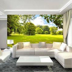 3D Wallpaper Mural Green Field View Landscape Background Custom Size #Unbranded #ModernArtAbstract