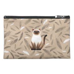 Siam cat Travel Accessory Bag