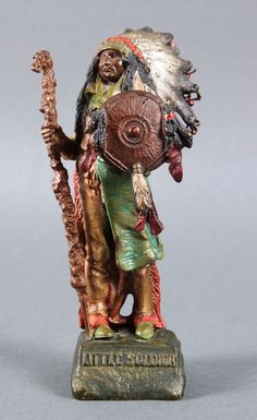 Cold painted bronze by Carl Kuaba