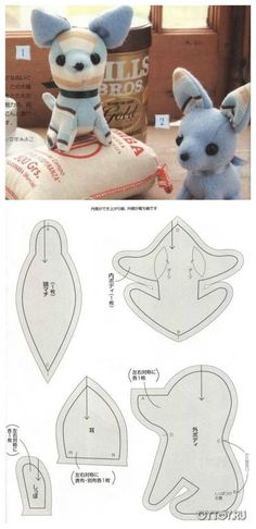 Effective Potty Training Chihuahua Consistency Is Key Ideas. Brilliant Potty Training Chihuahua Consistency Is Key Ideas. Sewing Toys, Sewing Crafts, Sewing Projects, Fabric Animals, Sock Animals, Clay Animals, Plushie Patterns, Pdf Sewing Patterns, Softie Pattern