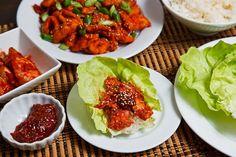 Dak Bulgogi, Korean style spicy BBQ chicken.