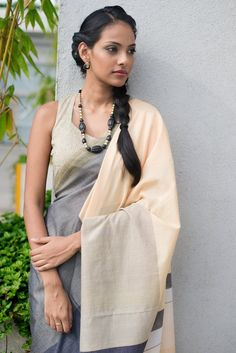Fossil Coral Saree from FashionMarket.lk