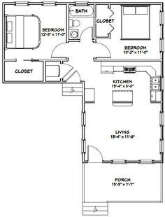 Floor plan under 500 sq ft standard floor plan one for 16x32 2 story house plans