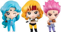 MegaHobby announced the next Sailor Moon Petit Chara figures will be the Amazon Trio with Tiger's Eye, Hawk's Eye and Fish Eye.