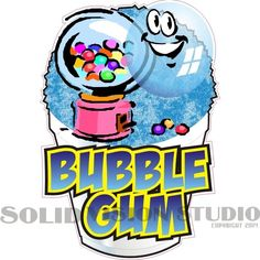 """6.5"""" Bubble Gum Shave Shaved Italian Ice Snow Cone Concession Food Truck Decal #SolidVisionStudio"""