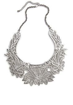 Modcloth Clad in Chrysanthemums Necklace  Use its adjustable lobster claw clasp to achieve the right length above sweetheart, scoop, or square necklines - whichever ones you prefer to dress up with divine decorations like this on-trend necklace!