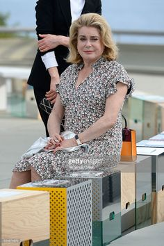 Catherine Deneuve attends at Louis Vuitton 2017 Cruise Collection at MAC on May 28, 2016 in Niteroi, Brazil.
