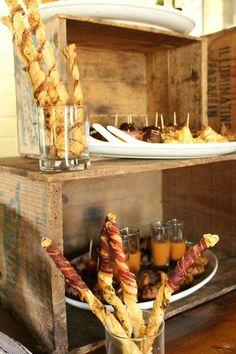 Rustic food display