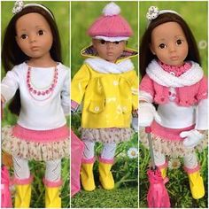 GOTZ HANNAH AMERICAN GIRL DOLL DESIGNA FRIEND 14PC RAINY DAY OUTFIT | eBay