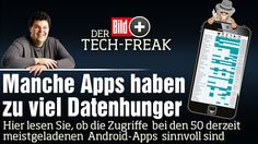 Android-Programme: Manche Apps haben zu viel Datenhunger. Apps greifen auf die Kamera im Smartphone zu oder hören übers Mikrofon mit http://www.bild.de/bild-plus/digital/handy-und-telefon/apps/manche-apps-haben-zu-viel-datenhunger-39365326,var=x,view=conversionToLogin.bild.html