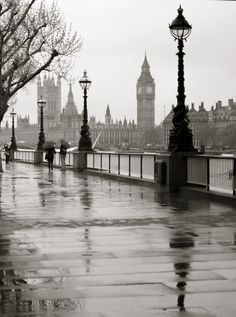 London by Rebecca Turner, via 500px - This is exactly what it feels like to walk down South Bank on a grey and rainy day. I can almost feel the damp chill just looking at it.