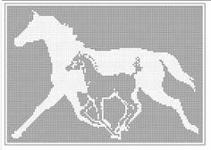Filet Crochet Patterns Fantasy Pegasus Flying Horse Filet