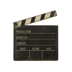 Add a touch of Hollywood to your décor with this realistically printed MDF cutout of a vintage slate clapboard. It's sturdy, yet lightweight, and you can fill it out for whichever film you desire.  Find the Take Two Clapboard Cutout, as seen in the Cannes Je T'aime Collection at http://dotandbo.com/collections/cannes-je-taime?utm_source=pinterest&utm_medium=organic&db_sku=SPC0006