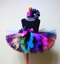 Rainbow Tutu  Birthday Tutu  Sewn Tutu  So Cal Punk by TiarasTutus, $39.00