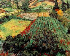 Field with Poppies, 1889. Vincent van Gogh.
