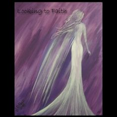 Looking to Faith Original Acrylic on Canvas Angel Painting by JDPeek 16x20