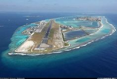 Airport in the Maldives is located on an artificial island in the middle of the Indian Ocean: