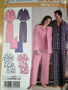 Simplicity Sewing Pattern 3971 Womens and Mens by SplashOfLuv