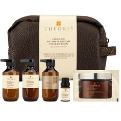 The Theorie Argan Oil Reform 5 Piece Hair and Body Travel Pack harnesses the true power of Moroccan Argan oil, providing intense moisture and rejuvenation to severely dry, damaged hair.