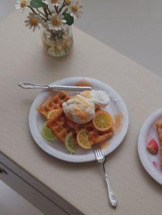 ♡ ♡ Waffle con limón