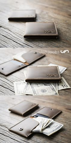 The flip top wallet is a fun, slim, minimalist wallet. Designed to be thin, and not bulky, yet still capable of holding all your important stuff. Personalize it! Add your initials or name.