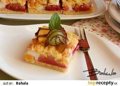 Ovocný koláč se sněhem recept - TopRecepty.cz Thing 1, Waffles, French Toast, Pie, Treats, Breakfast, Sweet, Food, Torte