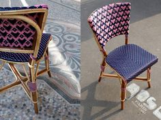Paris Loves You  chairby Maison Desalle . I love this little Parisian chair with woven rattan hearts in the back. (via laurent-corio )  ...