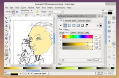 Tutorial: How to Make Colour Vector Illustrations from Line Drawings using GIMP and Inkscape | Eleanor Greenhalgh