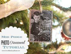 Love Of Family & Home: Mod Podge Photo Ornaments (Tutorial). By Mod Podge Rocks.