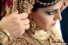 indian wedding bridal fashion makeup http://maharaniweddings.com/gallery/photo/10261
