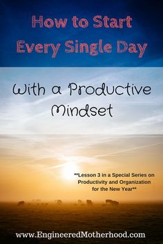 Want to be more productive? Starting your day with a productive mindset and a strong morning routine are essential!
