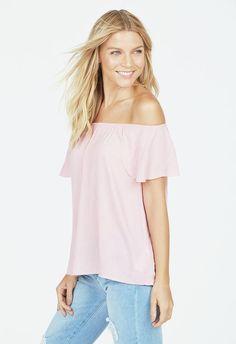 Tulip Sleeve Peasant Top Kleidung in Pink - günstig kaufen bei JustFab
