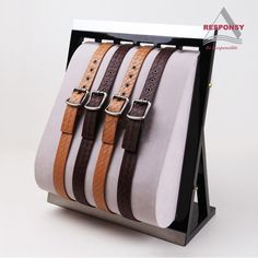 custom belt display stand