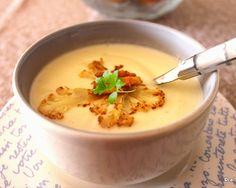 Crema de coliflor y queso - buenísima