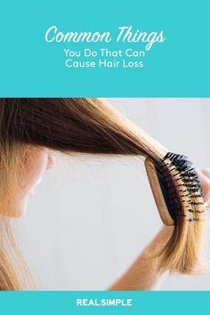 Losing a few strands of hair isn't too worrisome, but having clumps fall out is scary. These common habits are actually hair loss causes. Argan Oil For Hair Loss, Best Hair Loss Shampoo, Biotin For Hair Loss, Hair Shampoo, Biotin Hair, Baby Hair Loss, Normal Hair Loss, Herbs For Hair, Best Facial Hair Removal