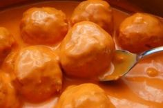 """Buffalo Chicken Meatballs"" --- These are seriously the most delicious way to eat buffalo chicken. A melt-in-your-mouth meatball that's full of flavor, it's an easy appetizer for your next tailgate."