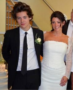 Harry Styles at his mom's wedding