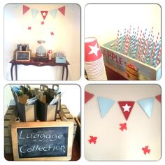 Lauren L's Birthday / Vintage Airplane - Photo Gallery at Catch My Party Superhero Birthday Party, Birthday Crafts, 3rd Birthday Parties, Birthday Ideas, Vintage Airplane Party, Vintage Airplanes, Turquoise Party, Transportation Party, Planes Party