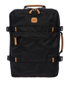 BRIC'S X-TRAVEL MONTAGNA BACKPACK. #brics #bags #polyester #leather #lining #pvc #nylon #backpacks