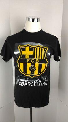 dcf94653dc11 Black FC Barcelona Camp Nou Men s Medium Graphic T Shirt A06-13